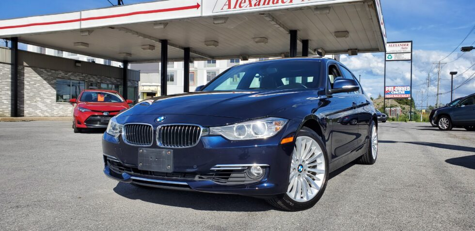 Blue BMW at best used car dealership in Cornwall!